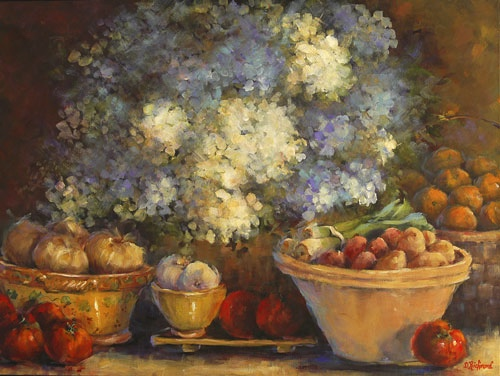 Hydrangea with Vegetables