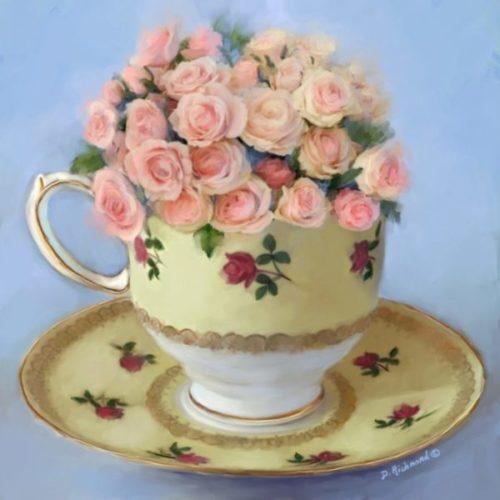 Pink Teacup Roses