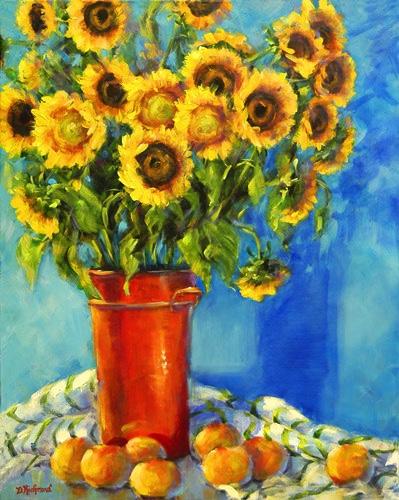 Sunflowers & Oranges