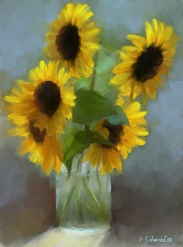 Sunlit Sunflowers