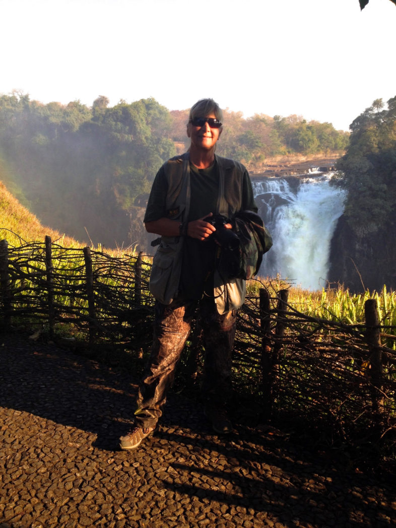 Debbie at Victoria Falls, Zimbabwe Africa